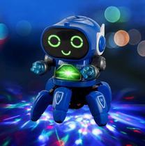 Brinquedo Infantil Robô Dançarino Genext Com som e Luzes 3D - Toy King