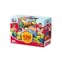 Brinquedo infantil super colorido mais blocos iii com 130 peças - DISMAT