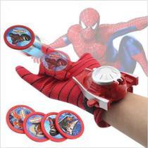 Brinquedo Infantil Teia Luva Homem Aranha Lança Disco Spider - Avengers
