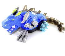 Brinquedo Infantil Tiranossauro Rex Robô Solta Fumaça Luzes Anda Mexe Cabeça Cauda Sons - Azul - Barcelona