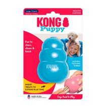 Brinquedo Interativo para Cachorro Filhote Kong Puppy com Dispenser para Ração Azul -