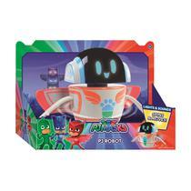 Brinquedo Interativo Robô Com Luz E Som DTC PJ Masks 20Cm -