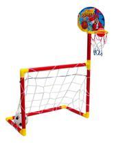 Brinquedo Jogo Basquete E Futebol Infantil Com Bolas - Importway