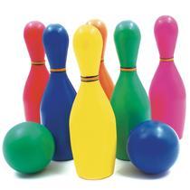 Brinquedo Jogo de Boliche Infantil 6 Pinos e 2 Bolas - Pica Pau