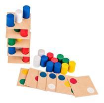 Brinquedo Jogo Educativo Pedagógico Torre Inteligente Carlu -