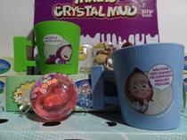 brinquedo kit c/4=2 caneca masha urso 1 slime bombom 1chaveiro masha urso - 0M