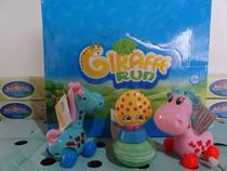 brinquedo kit c/4=2 girrafinha 1 slime macarons 1 frutinha - Om