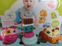 brinquedo kit c/4=2 vaquinha 1 slime macarons 1 frutinha - Om