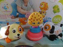 brinquedo kit c/4=cachorrinho 1 slime macarons 1 frutinha - Om