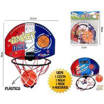 Brinquedo Kit Cesta de Basquete infantil com bola - Dony Toys -
