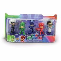 Brinquedo Kit Com 5 Bonecos Heróis De Pijama PJ Masks Disney - Dtc