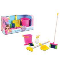 Brinquedo kit de limpeza infantil com água e sabão - Nig brinquedos