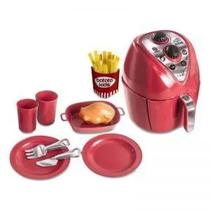 Brinquedo kit Fritadeira Air fryer Chef kids 12 pecas Zuca Toys 7647 -