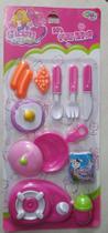 Brinquedo Kit Infantil Fogãozinho com Cozinha Panelinha 10 Peças - Camp -