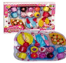 Brinquedo Kit Jogo Cozinha Divertida cupcakes sorvetes bandeja e muitos acessórios - Futuro