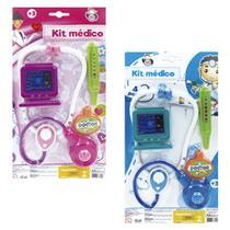 Brinquedo Kit Medico 4 pçs na cartela - COR AZUL - Pica Pau