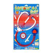 Brinquedo Kit Médico Enfermeiro Infantil Com 4 Peças - Pica-Pau