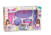 Brinquedo Kit P/cozinha Big Chef C/fogão Panela Jarra Copos - Mielle -