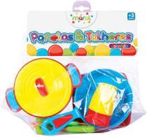 Brinquedo Kit Panela E Talheres Colorido Maral 1027 -