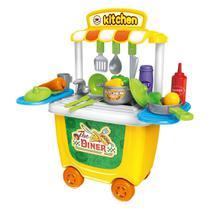 Brinquedo Kit Restaurante Mini Chef Cozinha Bancada 2 em 1 - Baby Style
