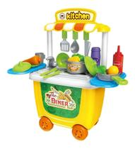 Brinquedo Kit Restaurante Mini Chef Cozinha Bancada 2 Em 1 - Tapuzim