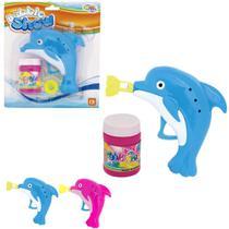Brinquedo Lança Bolha de Sabão Golfinho a Fricção C/ Refil - Wellmix