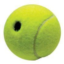 Brinquedo LCM Cães Bola Decorativa com Guizo Verde e Amarelo -