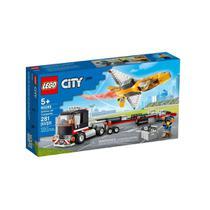 Brinquedo Lego City Novo Transportador de Aviao de Acrobacia -