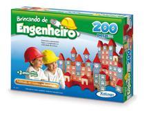 Brinquedo Madeira Pedagógico Brincando Engenheiro 200 Pcs - Xalingo