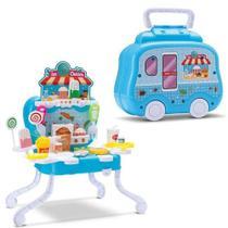 Brinquedo Maleta Sorveteria Kit Food 19 Peças - Samba Toys -