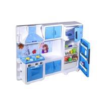 Brinquedo maxi cozinha grande ice com geladeira fogão e acessorios - Lua De Cristal