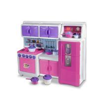 Brinquedo mini cozinha infantil completa cristal com acessorios divertidos - Lua De Cristal