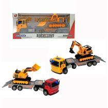 Brinquedo Miniatura Caminhão Truck Com Caminhãozinho Trator Infantil - Silmar