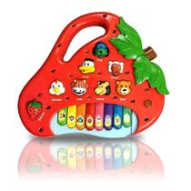 Brinquedo Morango Teclado Infantil Bebês com Várias Músicas - Toy King