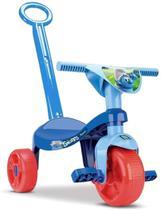 Brinquedo Motoca Infantil Triciclo Menino Smurf com Haste - Samba Toys