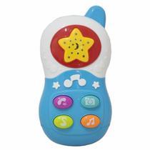 Brinquedo Musical Baby Telefone Azul - Bbr Toys -