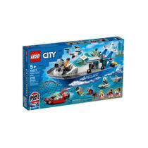 Brinquedo Novo Lego City Barco de Patrulha da Policia 60277 -