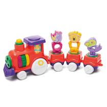 Brinquedo Para Bebe Trenzinho Didatico Zoo Trem Tateti +12M -