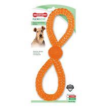 Brinquedo para Cachorro Argola Dupla Flexibone Odontopet Laranja -