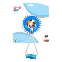 Brinquedo para Cachorro Argola Espacial com Corda Dentalbone Odontopet Azul para Cães até 15Kg -