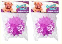 Brinquedo para cachorro bola com som kit com 2 peças - Wellmix