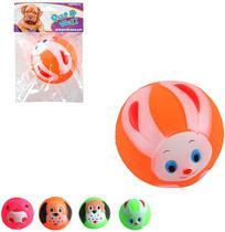 Brinquedo Para Cachorro Bola Rostinhos Sortidas Com Som Colors - Wellmix