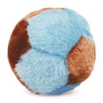 Brinquedo para cachorro Bolinha de Pelúcia (Bola de pelúcia sonora ao apertar) Chalesco Azul/Marrom -