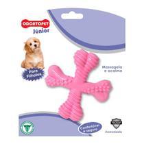 Brinquedo para Cachorro Filhote Spinner Odontopet Junior Rosa -
