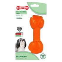Brinquedo para Cachorro Flexibone Big Osso Odontopet Laranja -