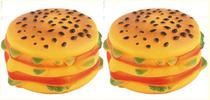 Brinquedo para cachorro hamburguer pequeno c/som kit c/ 2 pç - Wellmix