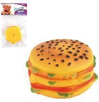 Brinquedo para cachorro hamburguer pequeno com som 8cm de ø - Wellmix