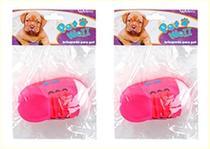 Brinquedo para cachorro sapato colors com som kit com 2 pçs - Wellmix