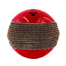Brinquedo para Gato Bolinha Cat Play em Plastico e Papelao Vermelha  Truqys -