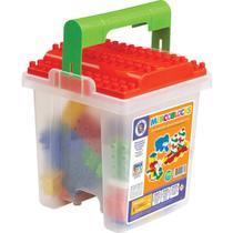 Brinquedo para Montar Balde C/BLOCOS 110 Pecas Mercotoys -